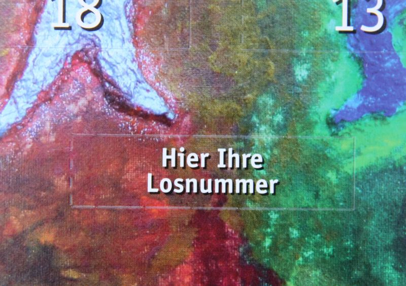 Losnummer Advents-Los-Kalender