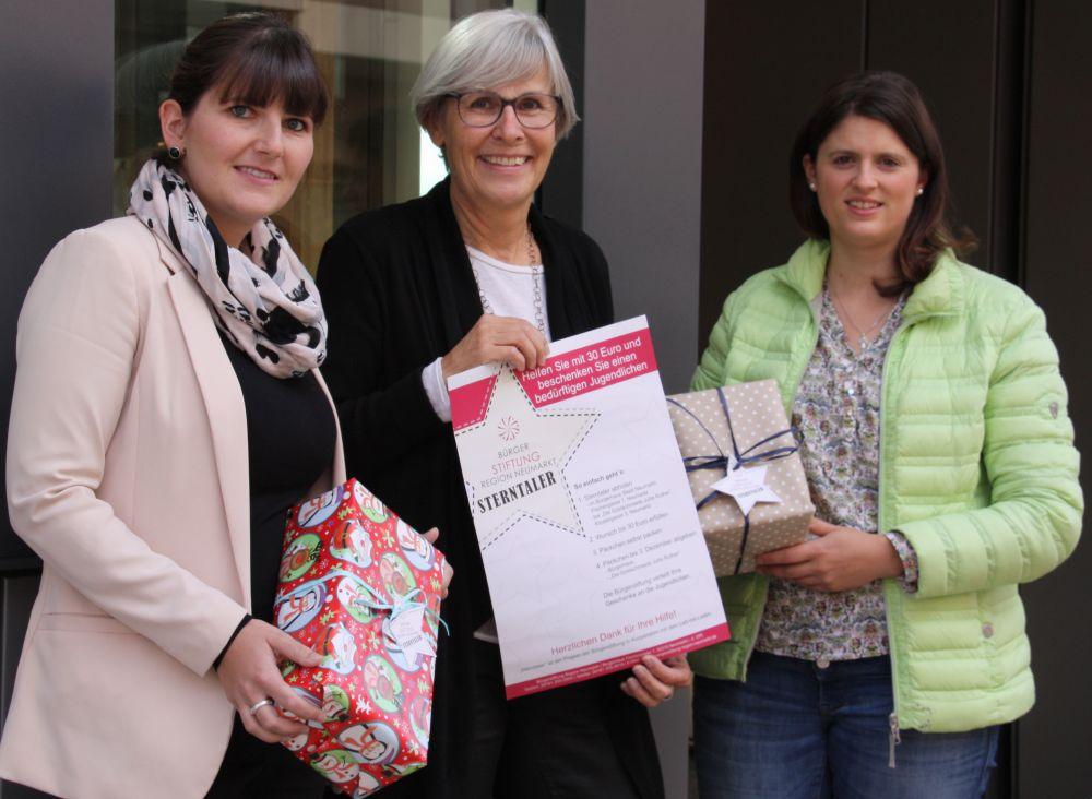Von links: Sophie Stepper (Vorstand), Jutta Rother (Stiftungsrätin) und Alexandra Hiereth (Projektleiterin)
